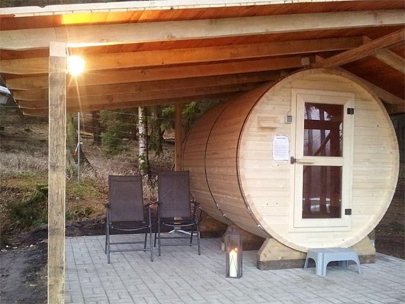 die sauna ist fertig harz camping. Black Bedroom Furniture Sets. Home Design Ideas
