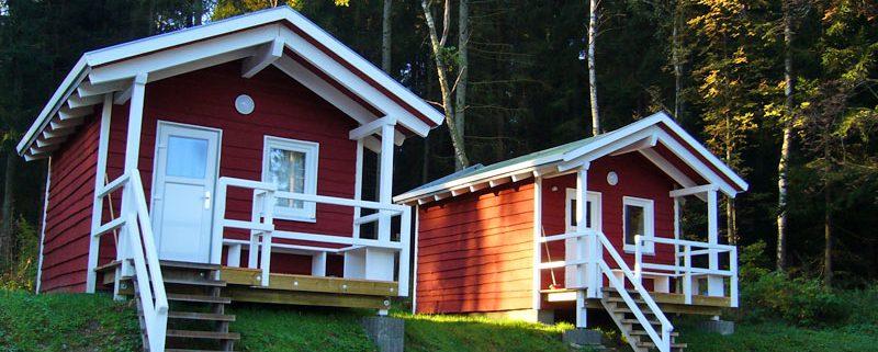 Skandinavische Hütten